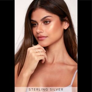Lulu's sterling silver set of 3 rings, size 7